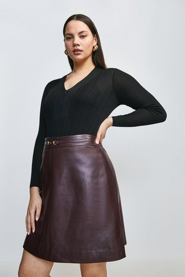 Black Curve Slinky Rib Zip Neck Jumper