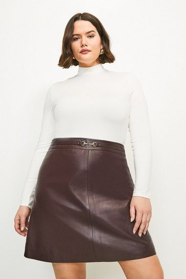 Ivory Curve Viscose Jersey Funnel Neck Top