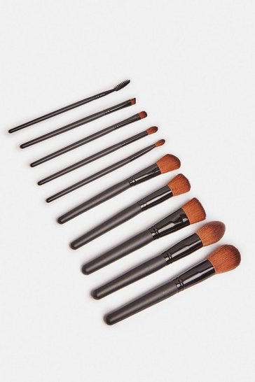 Black  Luxury 10 Piece Brush Set
