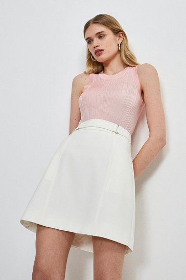 Blush Slinky Rib Knitted Vest