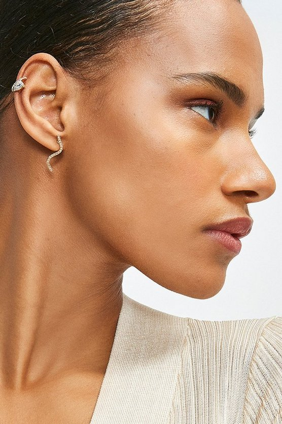 Gold Plated Diamante Ear Cuff Pack
