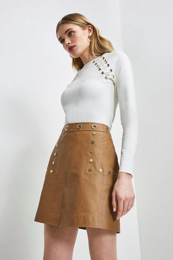 Ivory Laced Eyelet Ponte Top
