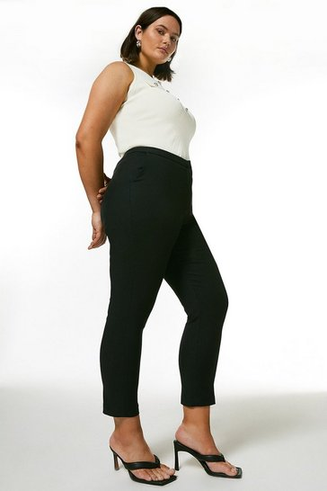 Black Curve Essential Cotton Sateen Trouser