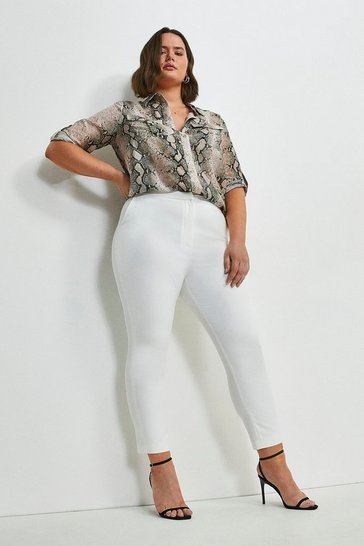 Ivory Curve Essential Techno Cotton Trouser