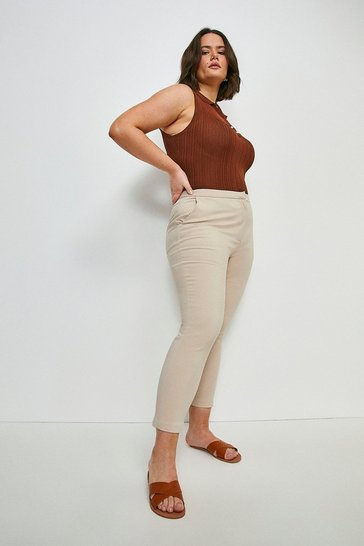 Stone Curve Essential Cotton Sateen Trouser