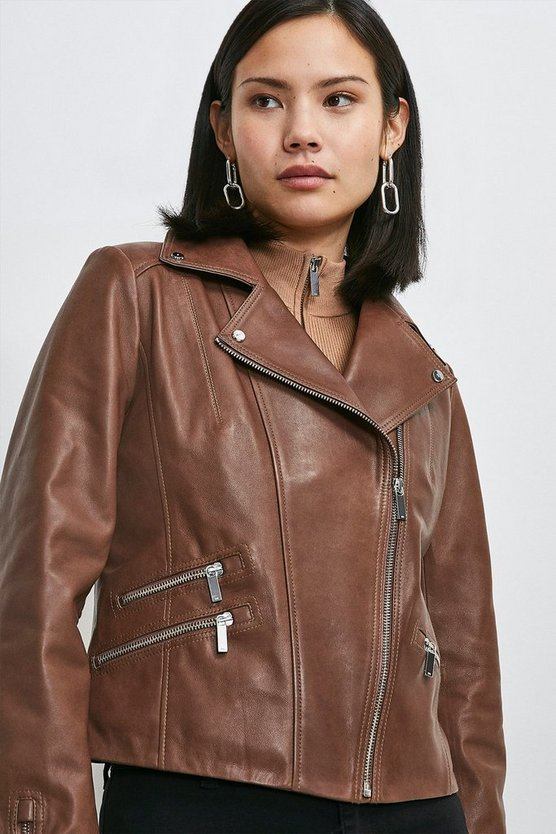 Chocolate  Vegetable Tanned Leather Signature Jacket