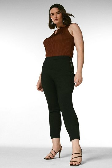 Black Curve Essential Cotton Sateen Crop Trouser