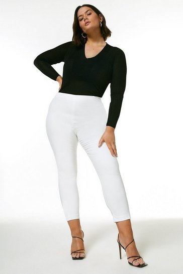 Ivory Curve Essential Techno Cotton Crop Trouser
