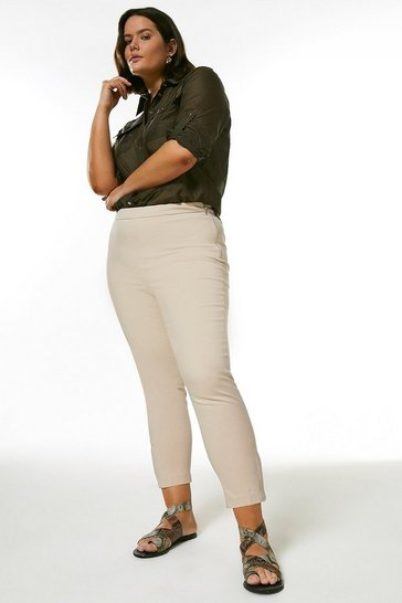 Stone Curve Essential Cotton Sateen Crop Trouser