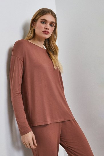 Mink Lounge Viscose Jersey Batwing Top