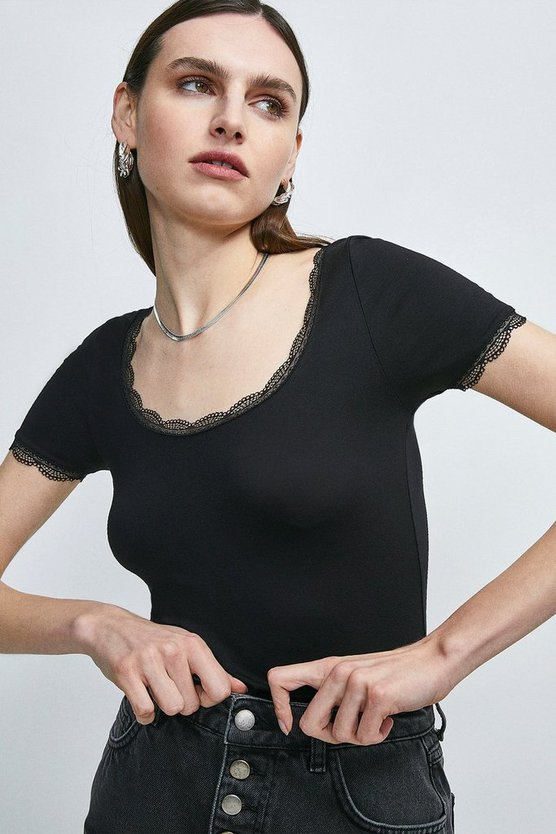 Black Lace Essential Jersey T-shirt