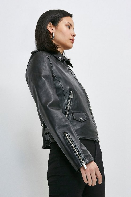 Black Leather Ultimate Biker Jacket