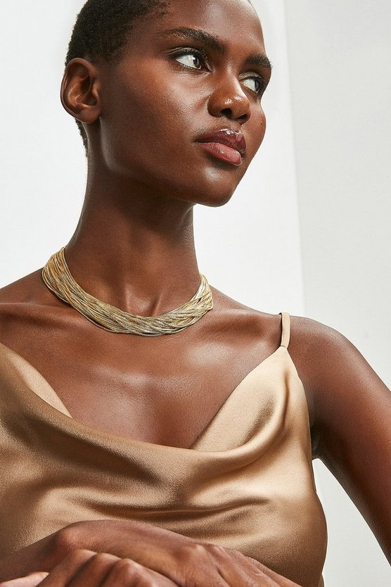 Gold Fine Layered Necklace