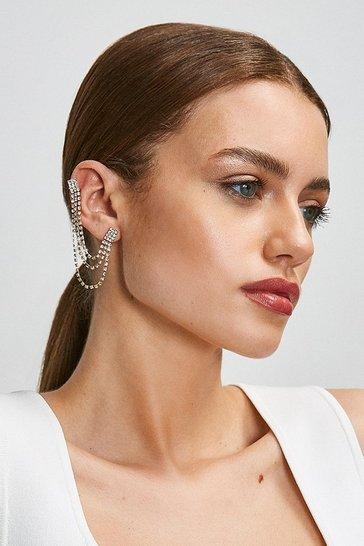 Gold Diamante Ear Cuff Set