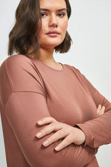 Mink Curve Lounge Viscose Jersey Batwing Top
