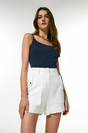 Navy Cotton Jersey Cami Jersey Top