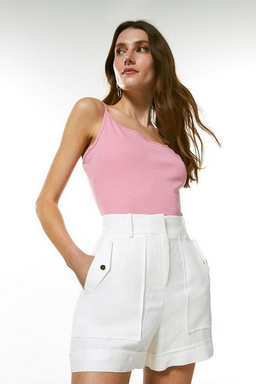 Pink Cotton Jersey Cami Jersey Top