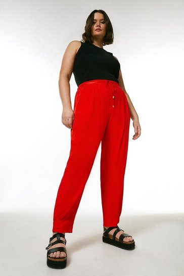 Red Curve Utility Matte And Shine Jogger