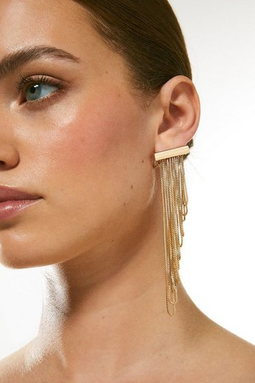 Gold Fine Layered Earrings