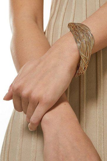 Gold Fine Layered Bracelet