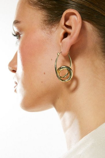 Gold Plated Double Hoop Earring