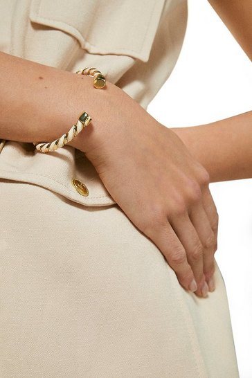 Nude Twist Detail Bangle