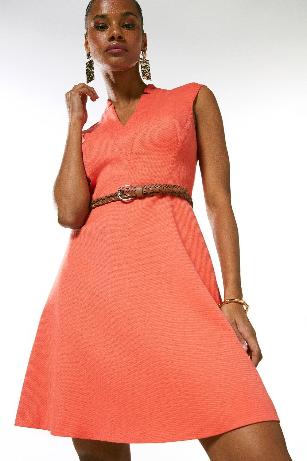 Relaxed Tailored Belted Dress https://www.karenmillen.com/relaxed-tailored-belted-dress-/AKK01670.html Product code: AKK01670 Promotions UP TO 50% OFF EVERYTHING £179.00£107.00 COLOUR: CORAL
