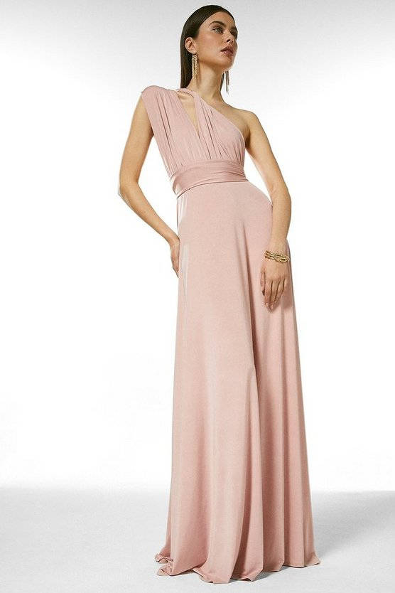 Blush Multiway Slinky Jersey Maxi Dress