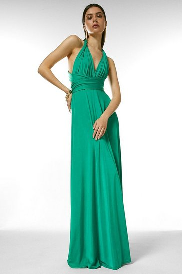 Bright green Multiway Slinky Jersey Maxi Dress