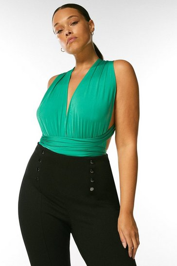 Bright green Curve Multiway Slinky Jersey Body