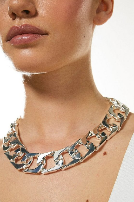 Silver Plated Chunky Necklace