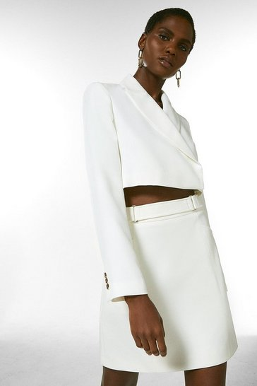 Ivory Tailored Cropped Jacket