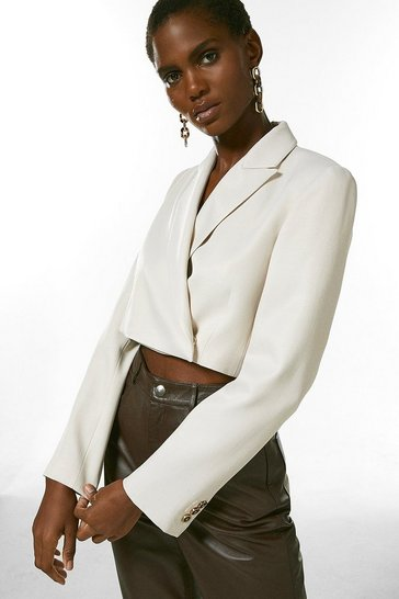Stone Tailored Cropped Jacket