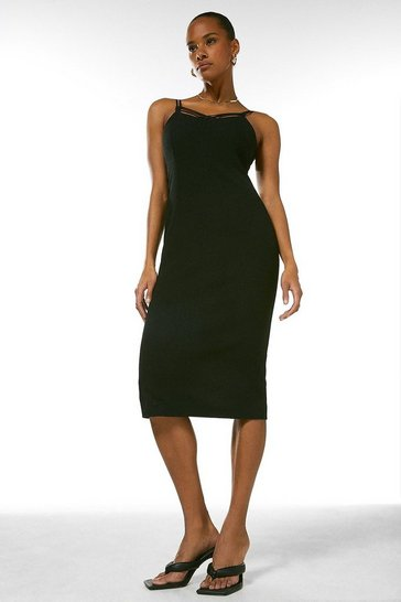 Black Forever Strappy Pencil Dress