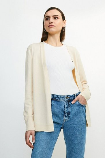 Cream Soft Yarn Knit Cardigan