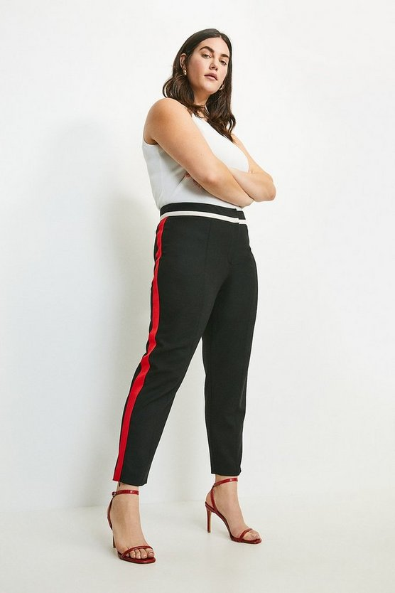 Multi Curve Compact Stretch Panelled Trousers