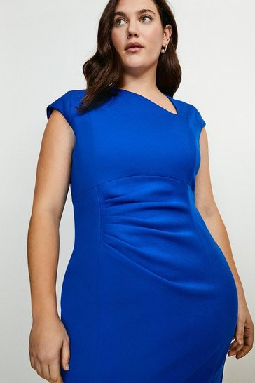 Cobalt Curve Asymmetric Tuck Detail Dress