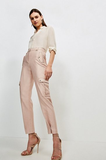 Blush Luxe Stretch Twill Utility Trouser