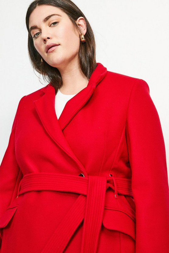 Red Curve Investment Notch Neck Short Coat