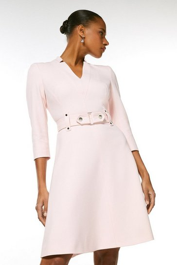 Blush Forever Cinch Waist A-Line Dress
