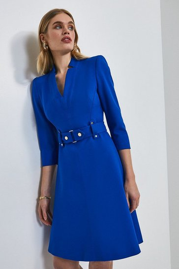 Cobalt Forever Cinch Waist A-Line Dress