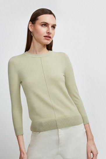 Sage Button Back Knit Jumper