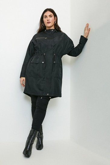 Black Curve Parka Mac