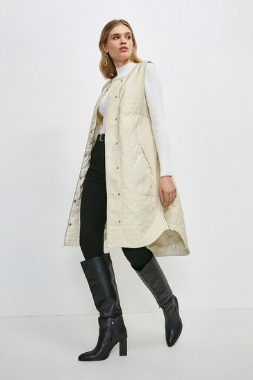 Cream Quilted Liner Gilet