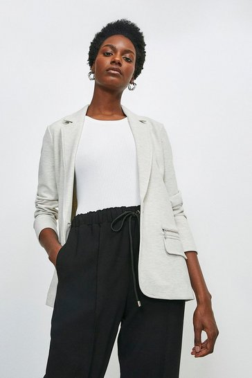 Grey marl Relaxed Jersey Blazer Jacket