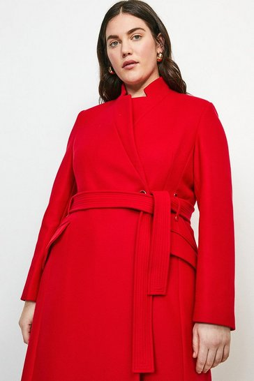 Red Curve Investment Notch Neck Coat