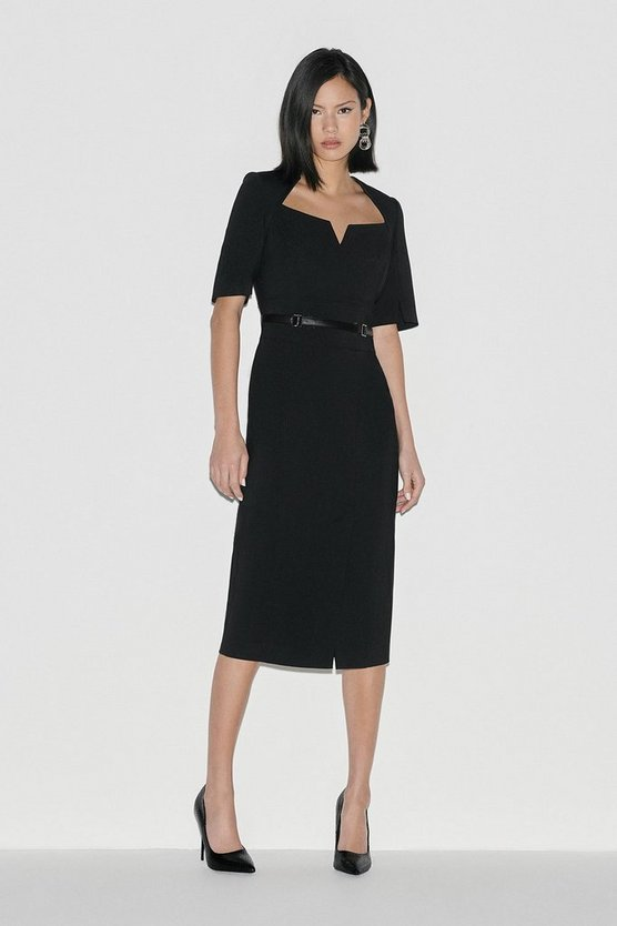 Black Label Italian Stretch Pencil Dress