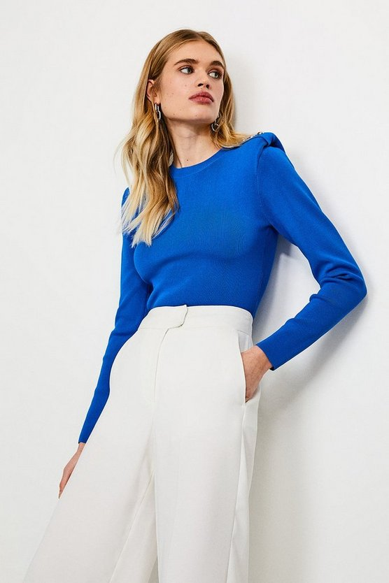 Blue Tuck Shoulder Jumper