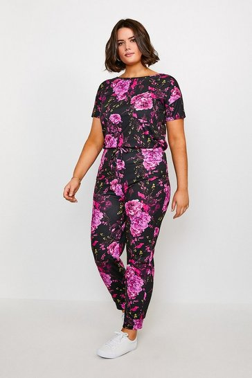 Curve Jersey Floral Lounge Jogger