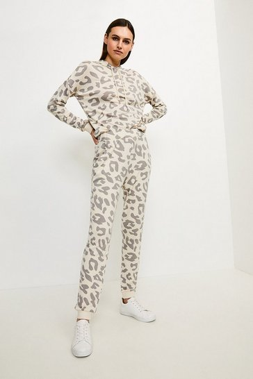 Lounge Animal Print Slim Leg Jersey Trousers